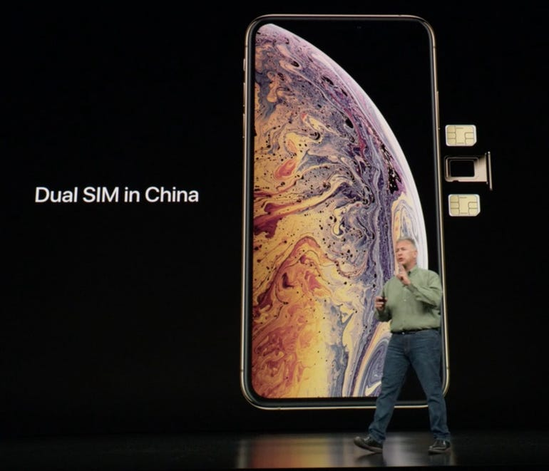 iPhone XS dual SIM in China
