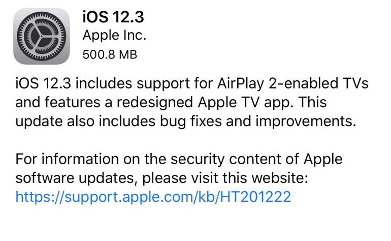 Just installed iOS 12.3?